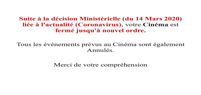 Fermeture Cinéma (Coronavirus)